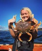 Emmy with crab 2016.jpg