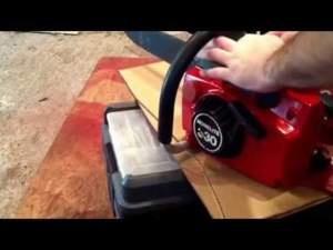 Homelite 330 vintage chainsaw: cold start and idle from all positions