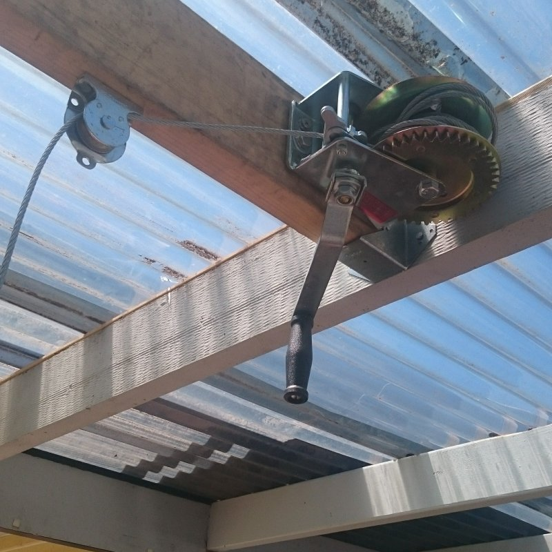 pulley attached to carport