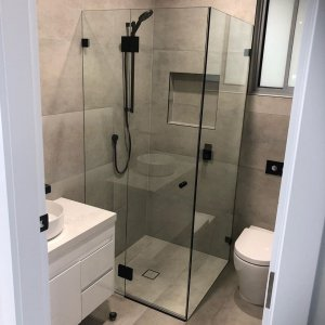 Bathroom ready to use after waterproof caulking