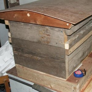 Mark 2 hive made from scaffold planks