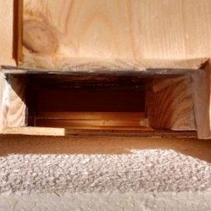 Underfloor entrance, large enough to accept a pan type vaporiser.