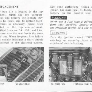 Honda Goldwing GL1000 1978 Owners Manual Page 44