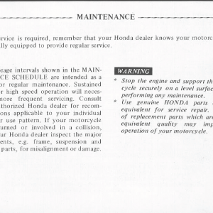 Honda Goldwing GL1000 1978 Owners Manual Page 45