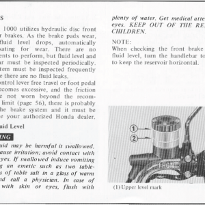Honda Goldwing GL1000 1978 Owners Manual Page 54