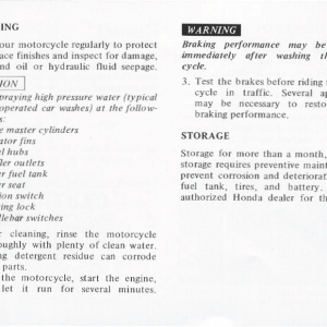 Honda Goldwing GL1000 1978 Owners Manual Page 60