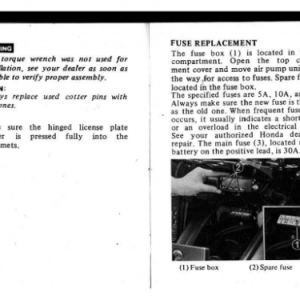 1982 A Owners Manual Pages 64 & 65