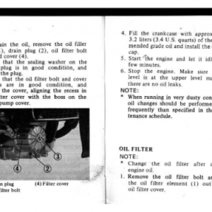 1982 A Owners Manual Pages 72 & 73