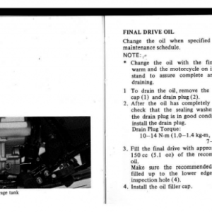 1982 A Owners Manual Pages 78 & 79