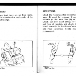 1982 A Owners Manual Pages 84 & 85