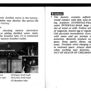 1982 A Owners Manual Pages 86 & 87