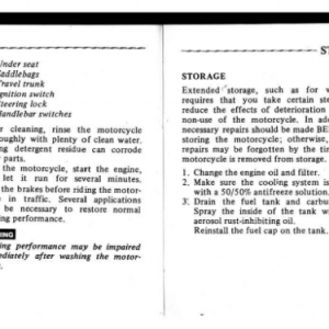 1982 A Owners Manual Pages 88 & 89