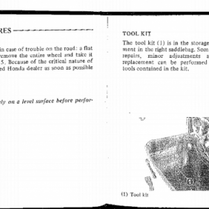 Owners Manual- 1983 GL1100 Aspencade Pages 66 & 67