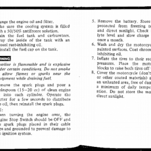 Owners Manual- 1983 GL1100 Aspencade Pages 98 & 99