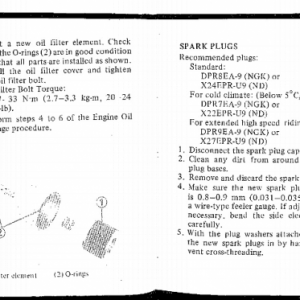 Owners Manual- 1983 GL1100 Aspencade Pages 82 & 83