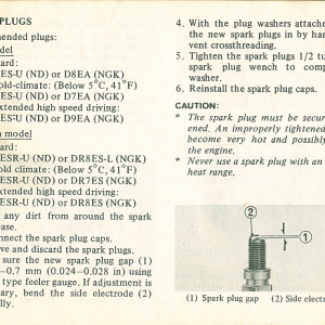 1980 S Owners Manual Page 56