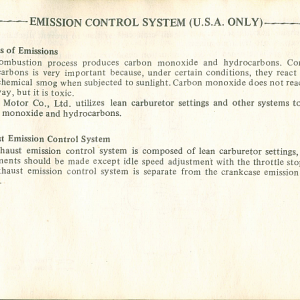 1980 S Owners Manual Page 69
