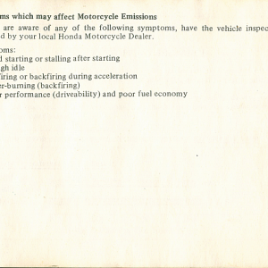 1980 S Owners Manual Page 71