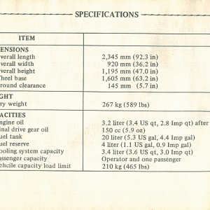 1980 S Owners Manual Page 76