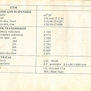 1980 S Owners Manual Page 78