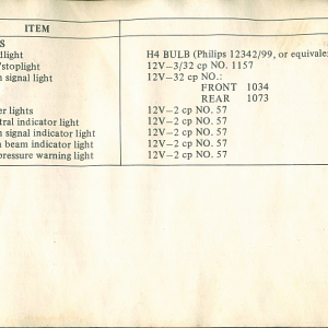 1980 S Owners Manual Page 79