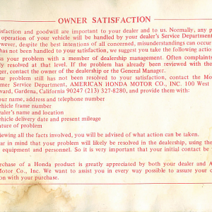 1980 S Owners Manual Page 80
