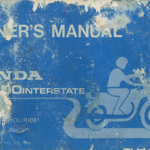 Owners Manual- 1981 GL1100 Interstate Front Cover