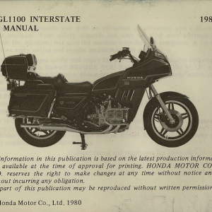 Owners Manual- 1981 GL1100 Interstate Preface Page 3