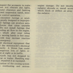 Owners Manual- 1981 GL1100 Interstate Page 4