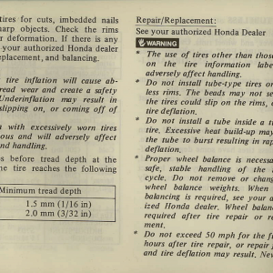 Owners Manual- 1981 GL1100 Interstate Page 6