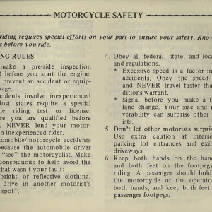 Owners Manual- 1981 GL1100 Interstate Page 1