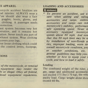 Owners Manual- 1981 GL1100 Interstate Page 2