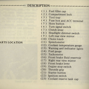 Owners Manual- 1981 GL1100 Interstate Page 10