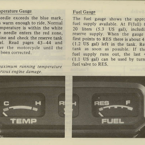 Owners Manual- 1981 GL1100 Interstate Page 19