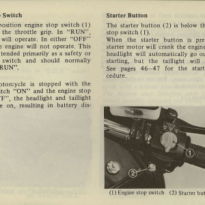 Owners Manual- 1981 GL1100 Interstate Page 21