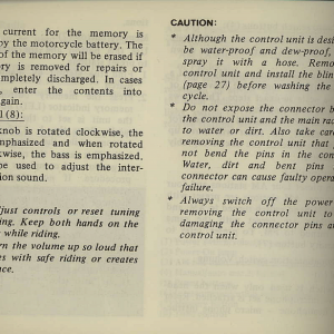 Owners Manual- 1981 GL1100 Interstate Page 26