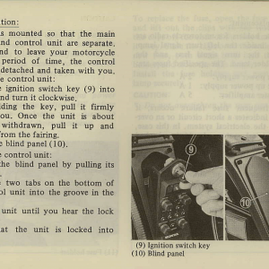 Owners Manual- 1981 GL1100 Interstate Page 27
