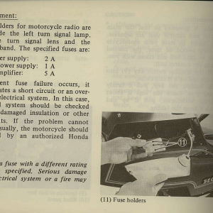 Owners Manual- 1981 GL1100 Interstate Page 28
