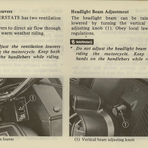 Owners Manual- 1981 GL1100 Interstate Page 33