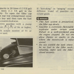Owners Manual- 1981 GL1100 Interstate Page 39