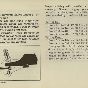 Owners Manual- 1981 GL1100 Interstate Page 49