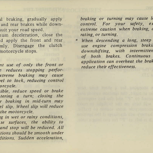 Owners Manual- 1981 GL1100 Interstate Page 51