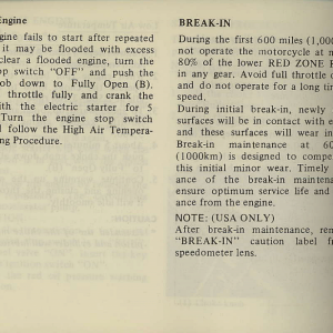 Owners Manual- 1981 GL1100 Interstate Page 48
