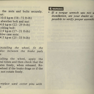 Owners Manual- 1981 GL1100 Interstate Page 60