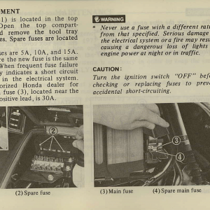 Owners Manual- 1981 GL1100 Interstate Page 61