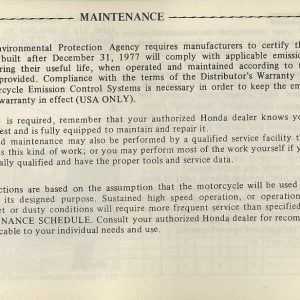Owners Manual- 1981 GL1100 Interstate Page 63