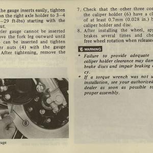 Owners Manual- 1981 GL1100 Interstate Page 57