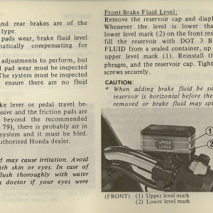 Owners Manual- 1981 GL1100 Interstate Page 77