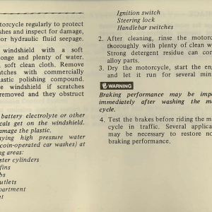 Owners Manual- 1981 GL1100 Interstate Page 83