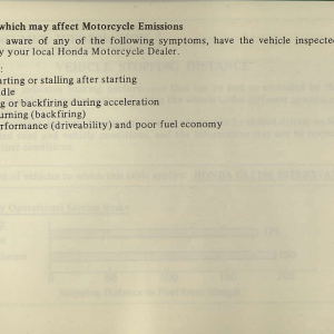 Owners Manual- 1981 GL1100 Interstate Page 87